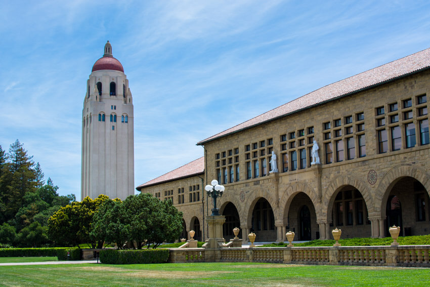 Main Quad and Hoover Tower at Stanford University