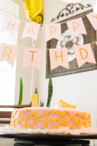 Emilia's birthday cake and decorations