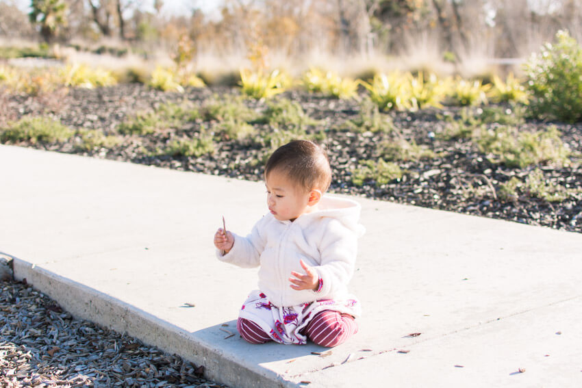 Emilia playing at the park