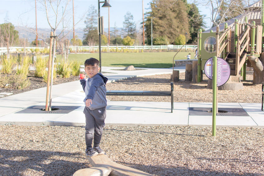 Gabriel playing at the park