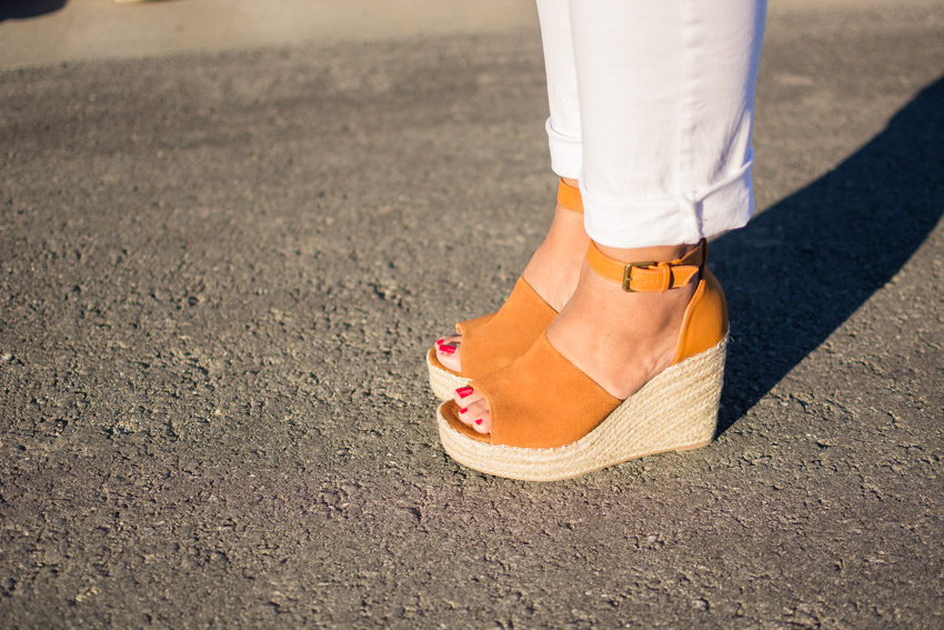 Closeup of Steve Madden wedges