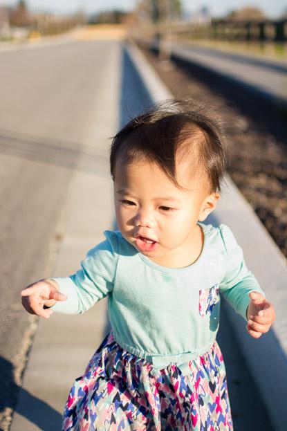 Emilia walking