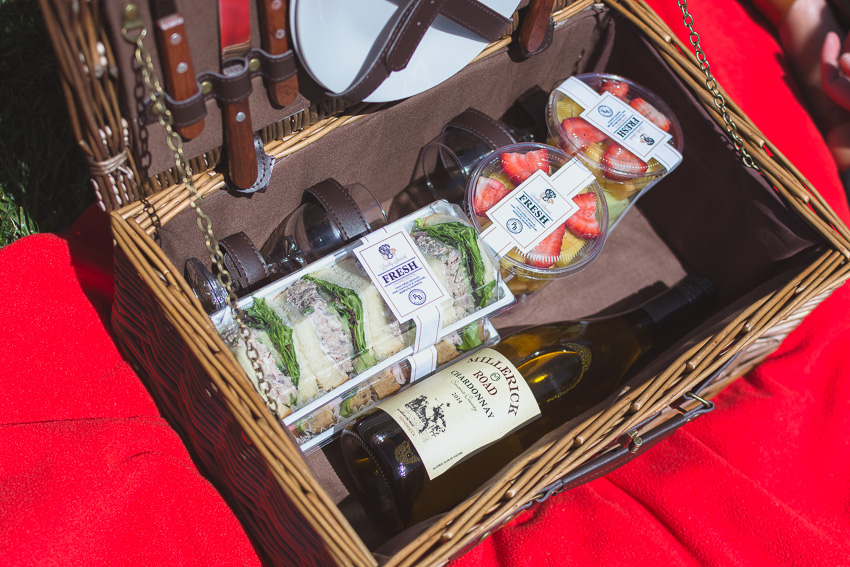 Pottery Barn picnic basket