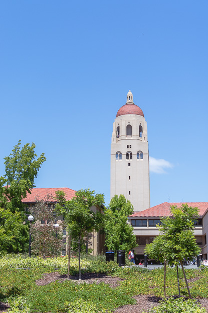 View of Hoover Tower at Stanford University