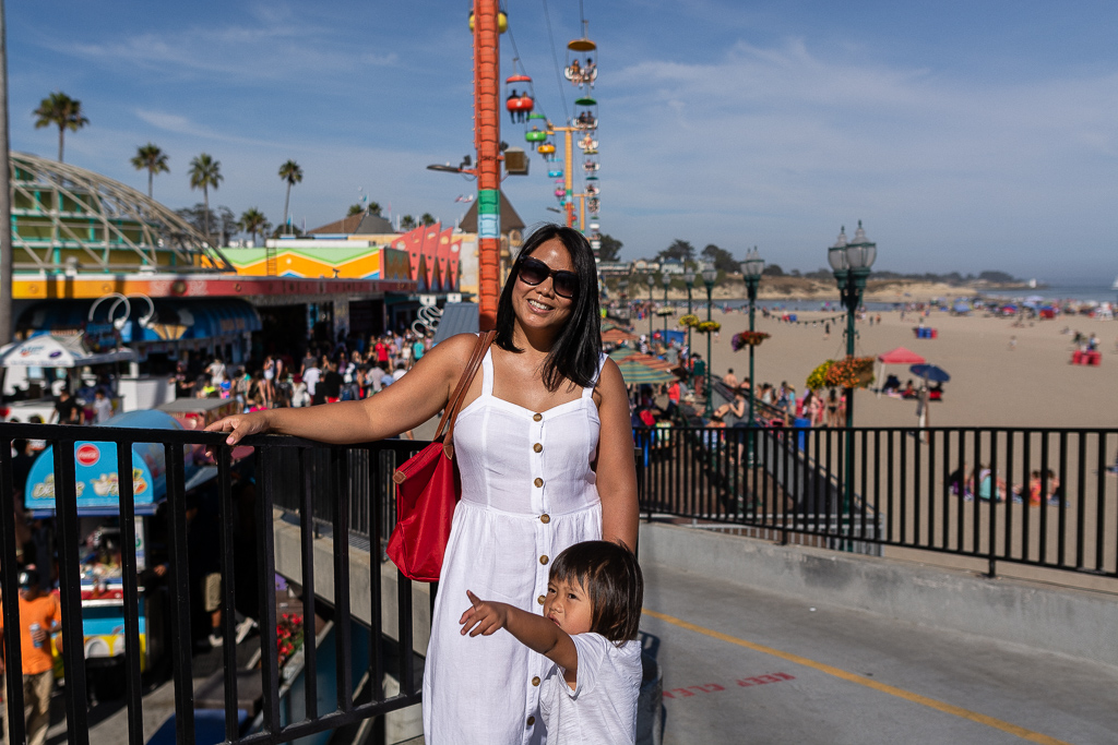 Barb and Emilia at Santa Cruz Beach Boardwalk