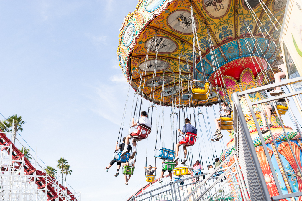 Sea Swings at Santa Cruz Beach Boardwalk