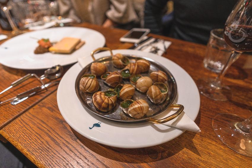 Escargots at Le Comtois de la Gastronomie