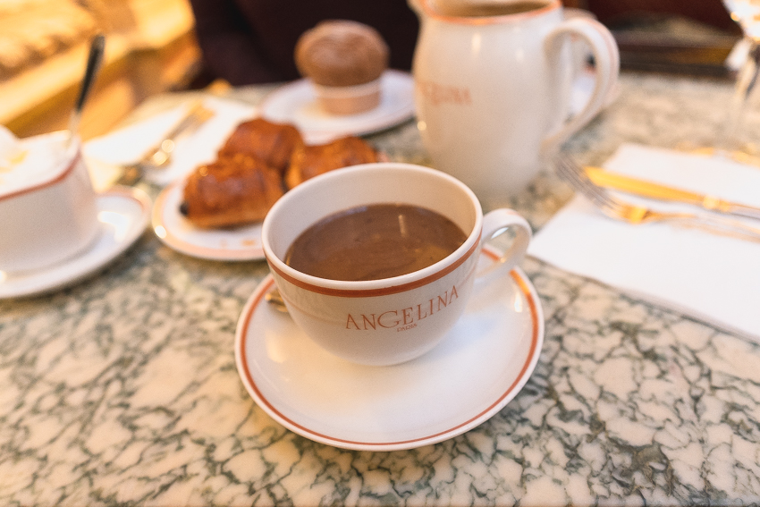 Hot Chocolate at Angelina in Paris, France