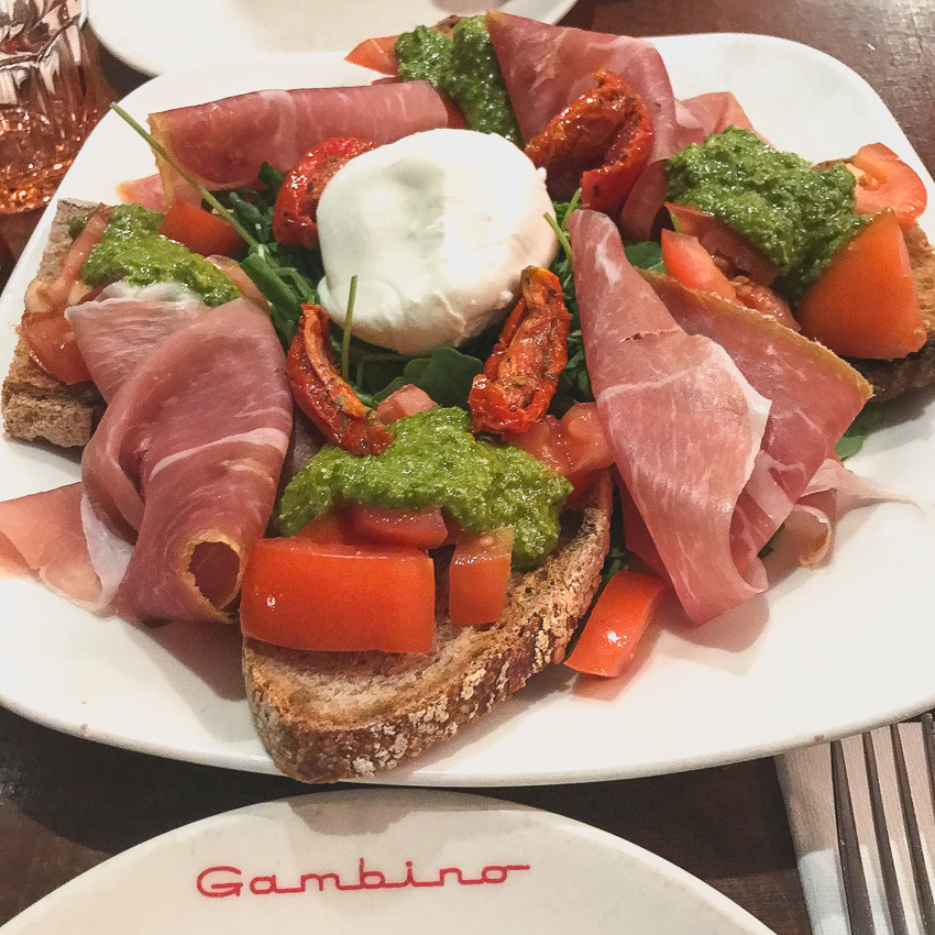 Proscuitto at Gambino in Paris France