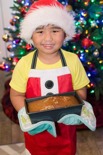 Gabe holding banana bread